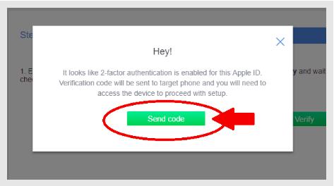 iphone casus yazılım yükleme send code